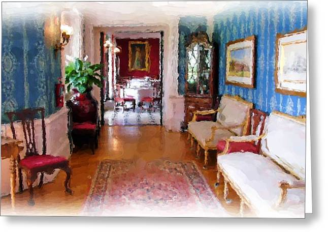 Entrance To Dining Room. Greeting Card by Ralph Liebstein