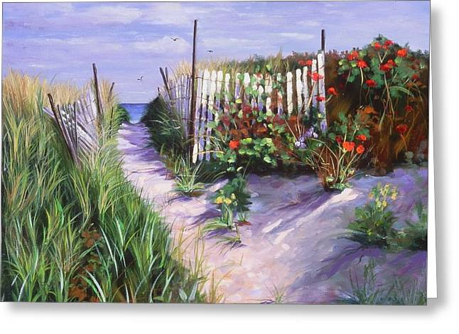 Entrance To Nantasket Greeting Card by Laura Lee Zanghetti