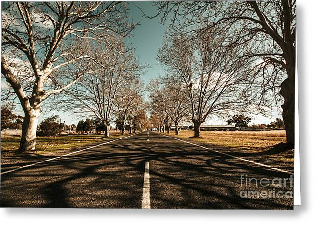 Entrance To Narrandera The Town Of Trees Greeting Card
