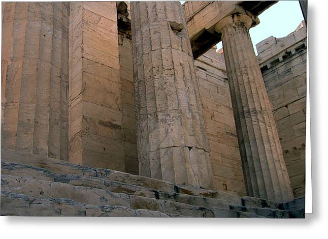Entrance To Past Life   Acropolis Greeting Card by Blima Efraim