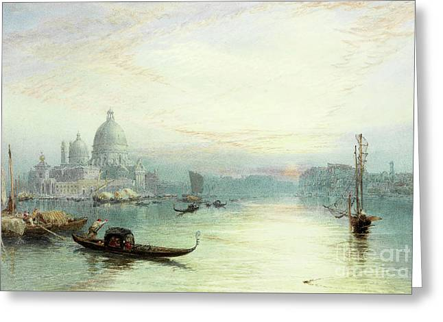 Entrance To The Grand Canal, Venice Greeting Card