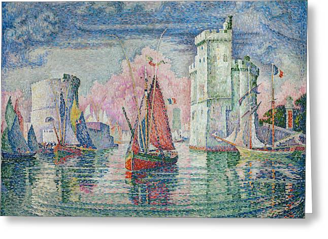 Entrance To The Harbour Of La Rochelle Greeting Card by Paul Signac