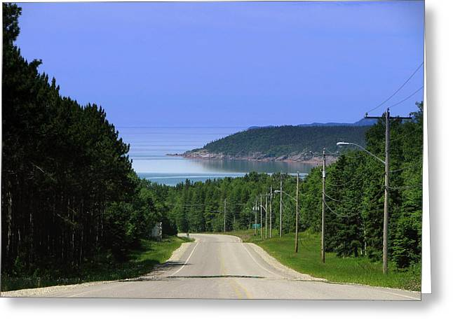 Entrance To The Town Of Marathon Ontario Greeting Card by Laura Wergin Comeau