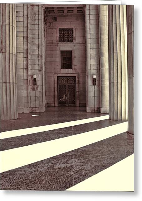 Entrance To War Memorial In Nashville Greeting Card