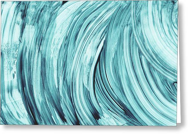 Entranced 2- Abstract Art By Linda Woods Greeting Card by Linda Woods