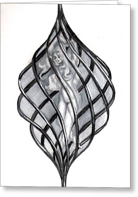 Entrapped Soul Greeting Card by Scarlett Royal