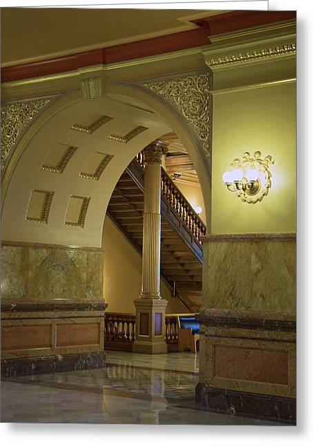 Entryway Kansas State Capitol Building Greeting Card by Thomas Kemper