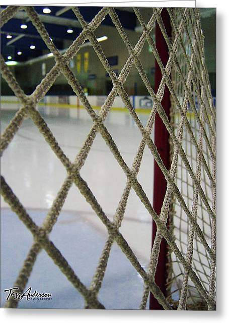Hockey Net Greeting Cards - Entwined II Greeting Card by Tazz Anderson