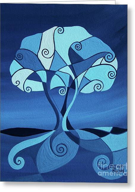 Enveloped In Blue Greeting Card
