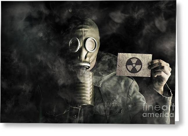 Environmental Pollution Concept Greeting Card by Jorgo Photography - Wall Art Gallery