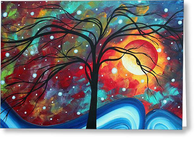 Envision The Beauty By Madart Greeting Card by Megan Duncanson