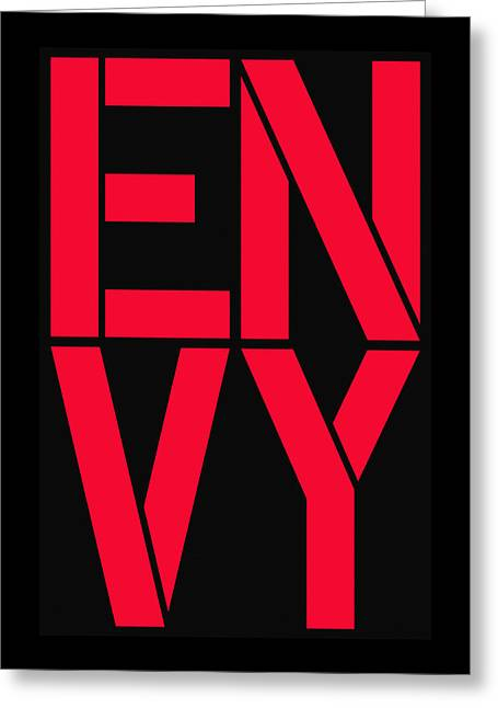 Envy Greeting Card by Three Dots