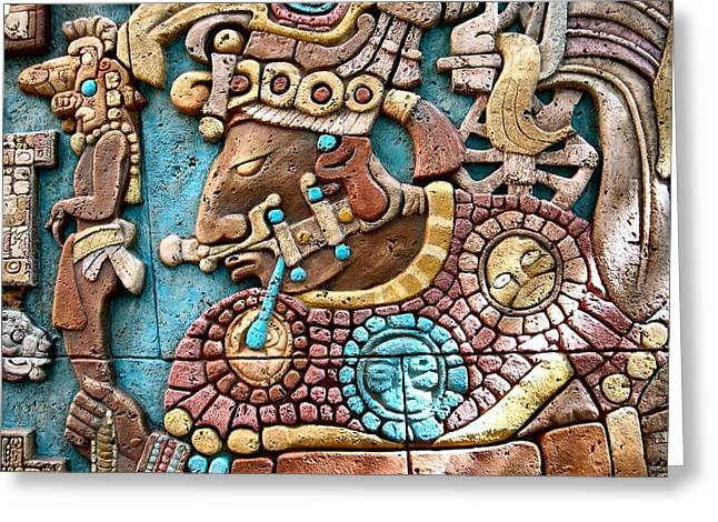 Epcot Mayan Warrior Greeting Card