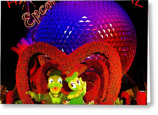 Epcot Valentine Card Greeting Card by David Lee Thompson