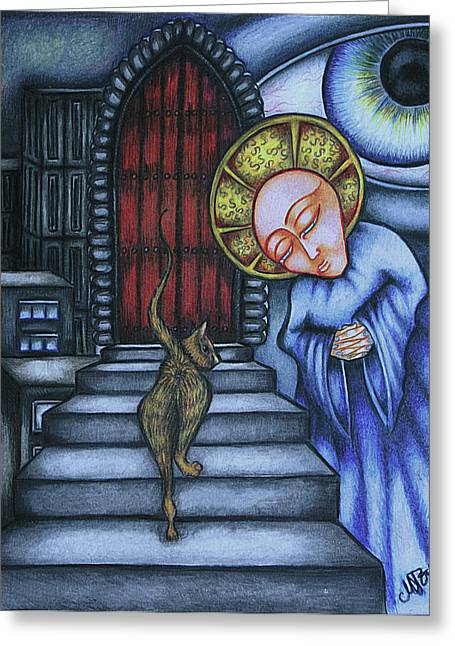 Epitaph For Ginger Greeting Card by Maryska Torresowa