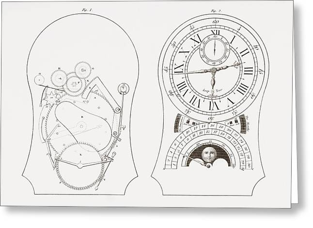 Equation Clock By Enderlin. From The Greeting Card by Vintage Design Pics