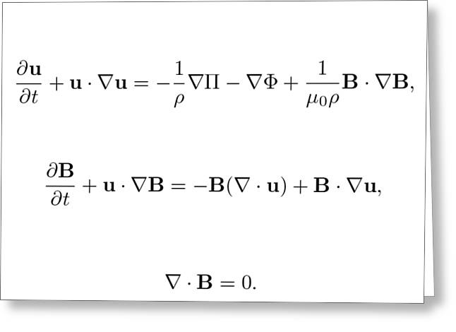 Equation Greeting Card by Jean Noren