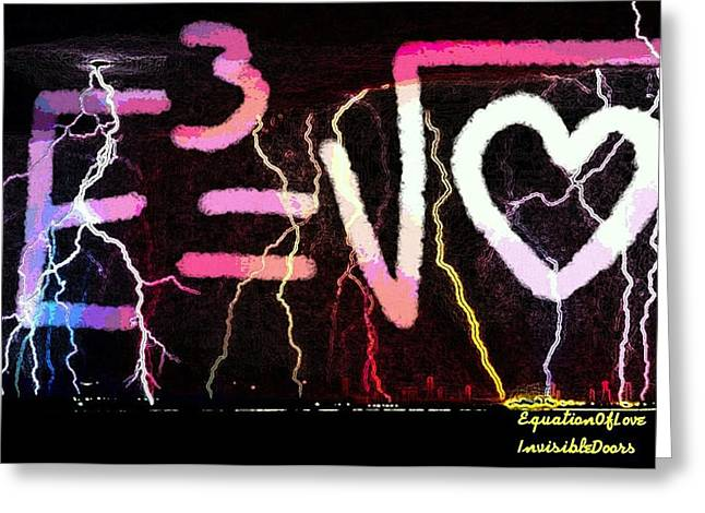 Equation Of Love Greeting Card