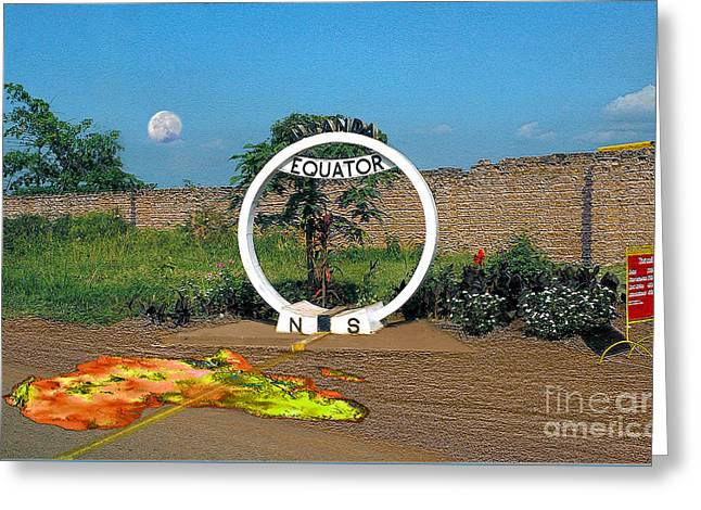 Equator Crossing Point Greeting Card