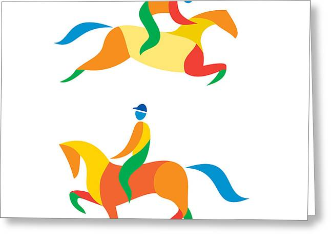 Equestrian Icon Greeting Card