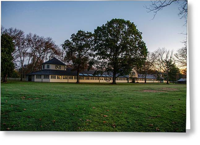 Equestrian Stable Erdenheim Farm - Whitemarsh Pa Greeting Card by Bill Cannon