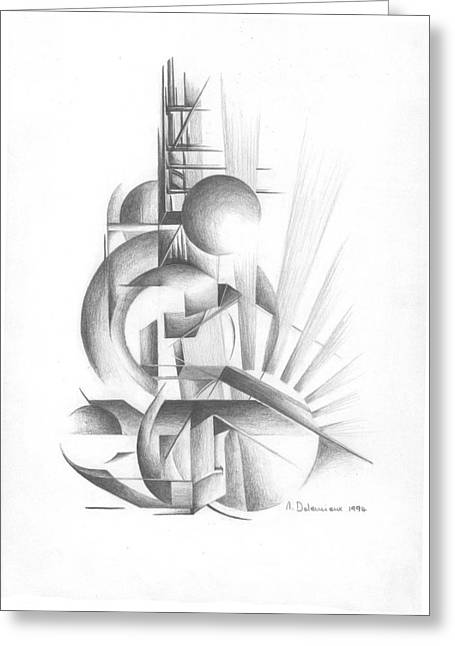 Equilibre Greeting Card by Muriel Dolemieux