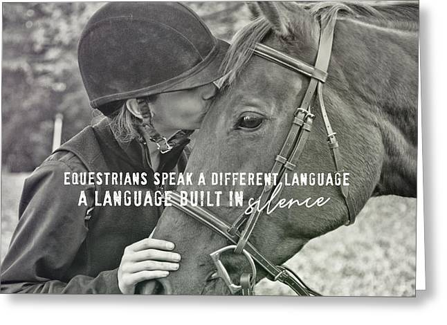 Equine Pact Quote Greeting Card by JAMART Photography