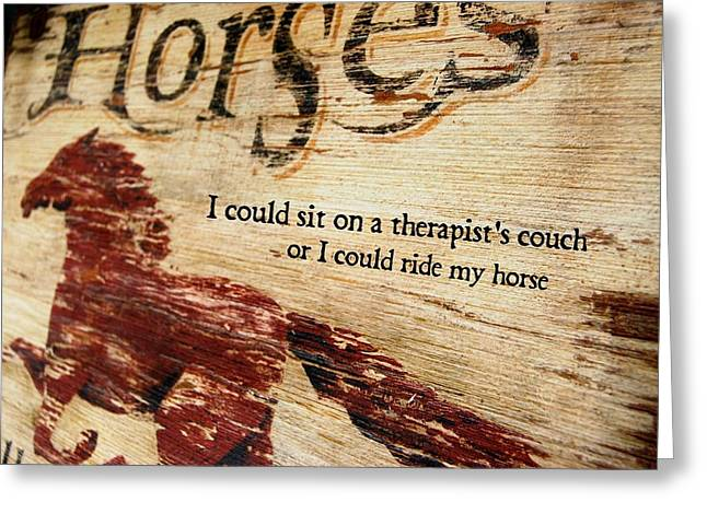 Equine Therapy Quote Greeting Card