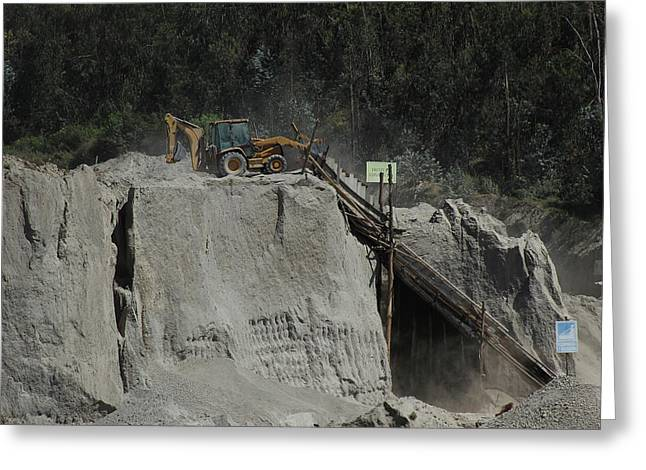 Equipment At A Gravel Pit Greeting Card by Robert Hamm