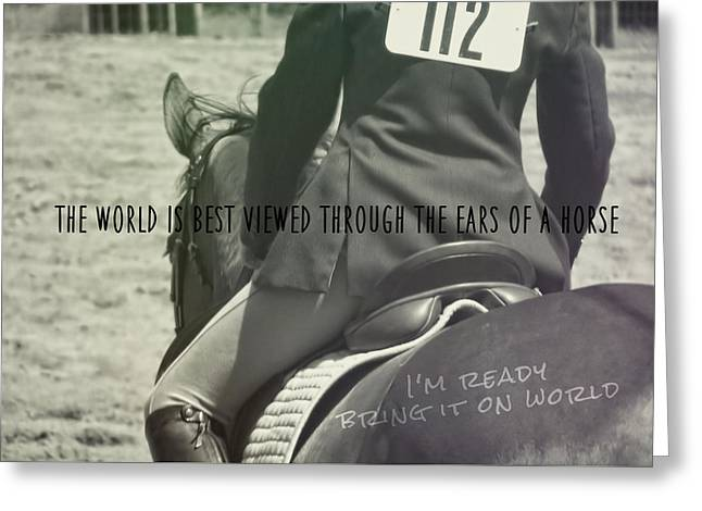 Equitation Quote Greeting Card by JAMART Photography