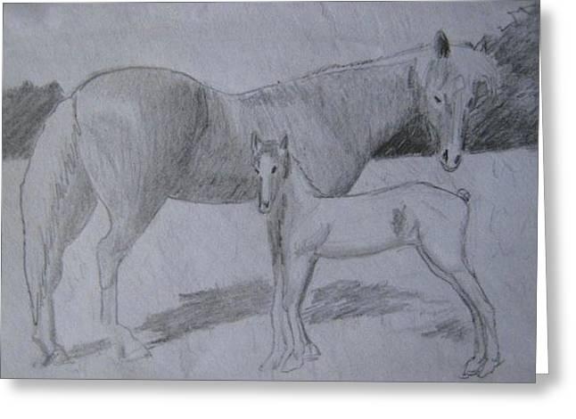 Equus Caballus Greeting Card by SAIGON De Manila
