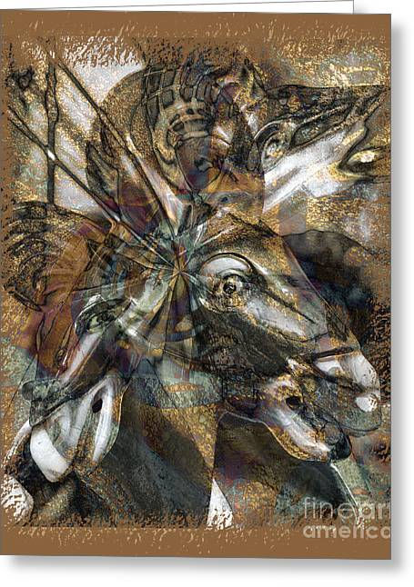 Equus Greeting Card by Chuck Brittenham