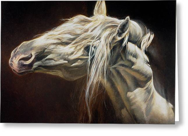 Equus Series I-iv Greeting Card by Heather Theurer