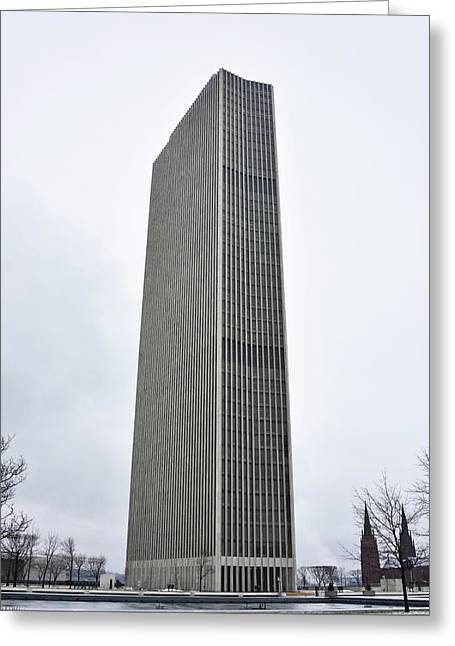 Greeting Card featuring the photograph Erastus Corning Tower In Albany New York by Brendan Reals