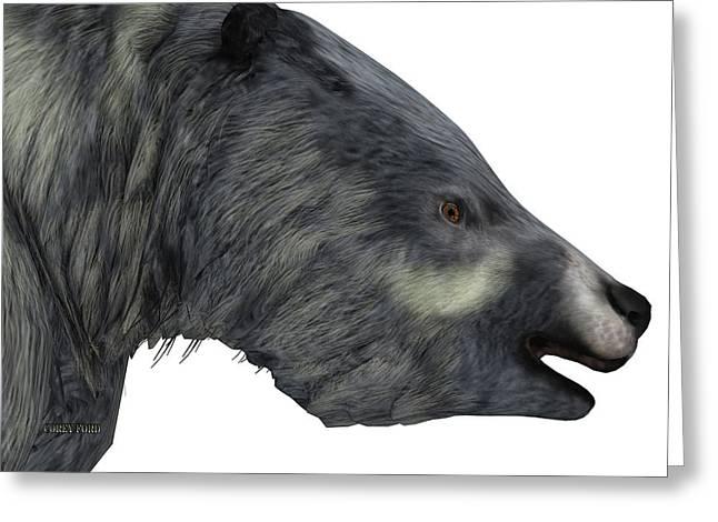 Eremotherium Sloth Head Greeting Card