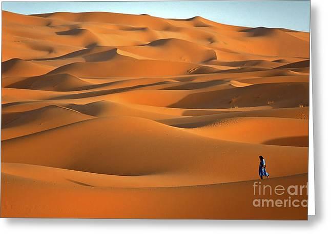 Erg Chebbi Desert Greeting Card