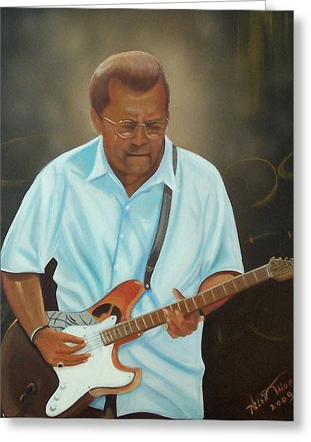 Eric Clapton Greeting Card by Helen Thomas