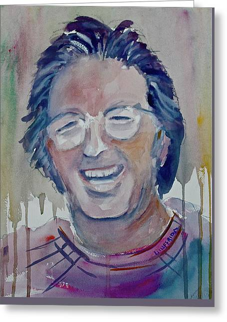 Eric Clapton Greeting Card by Joseph Giuffrida