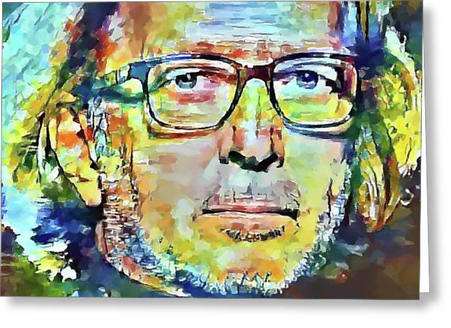Eric Clapton Portrait Greeting Card