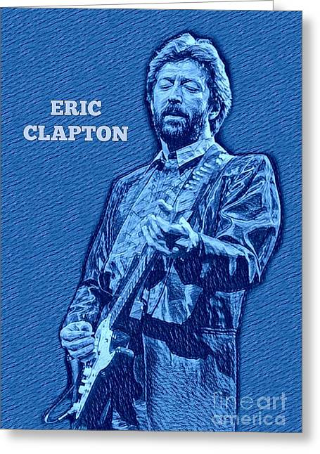 Eric Clapton Poster Greeting Card