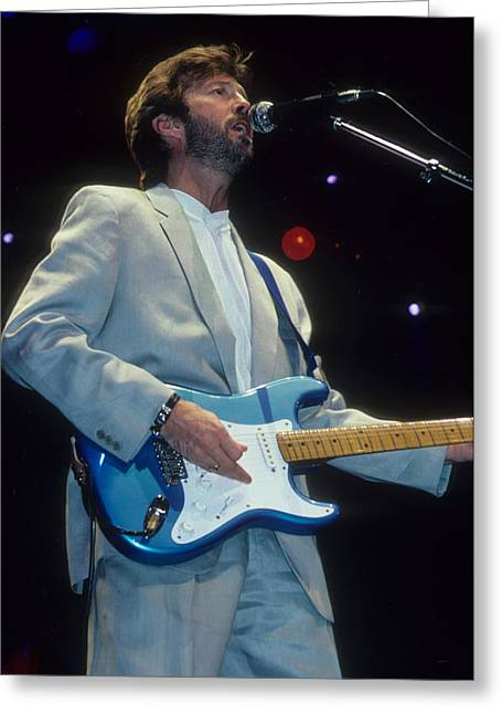 Eric Clapton Greeting Cards - Eric Clapton  Greeting Card by Rich Fuscia