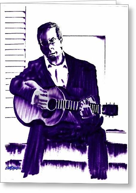 Eric Clapton Greeting Card by Seth Weaver