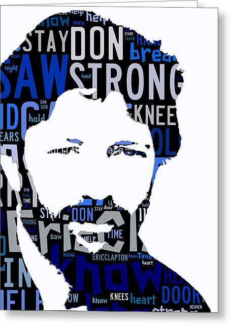 Eric Clapton Tears In Heaven Greeting Card