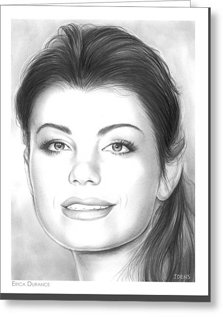 Erica Durance Greeting Card