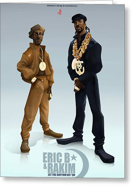 Ericb And Rakim Greeting Card by Nelson Garcia