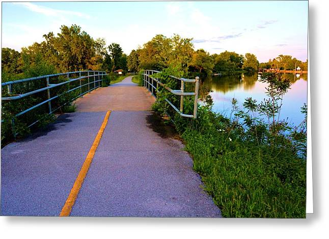 Erie Canal Bridge Greeting Card by Richard Jenkins