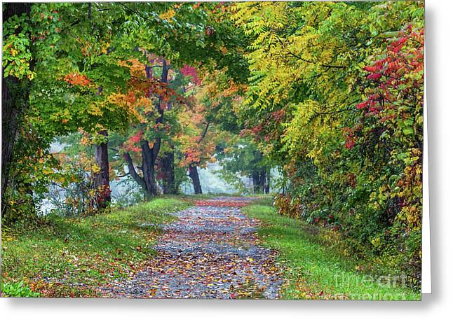 Erie Canal In Fall Greeting Card