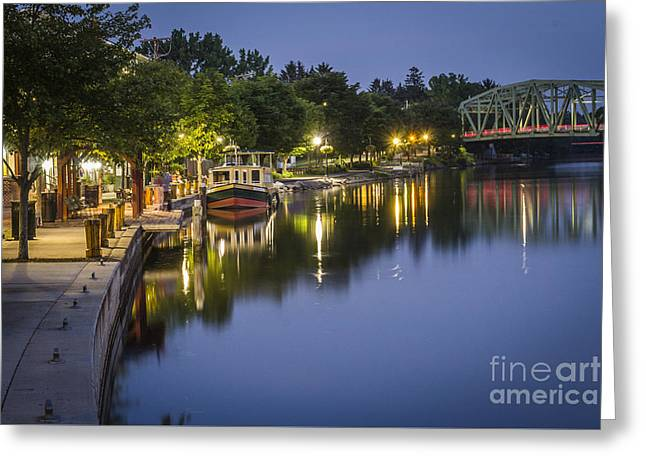 Erie Canal Stroll Greeting Card