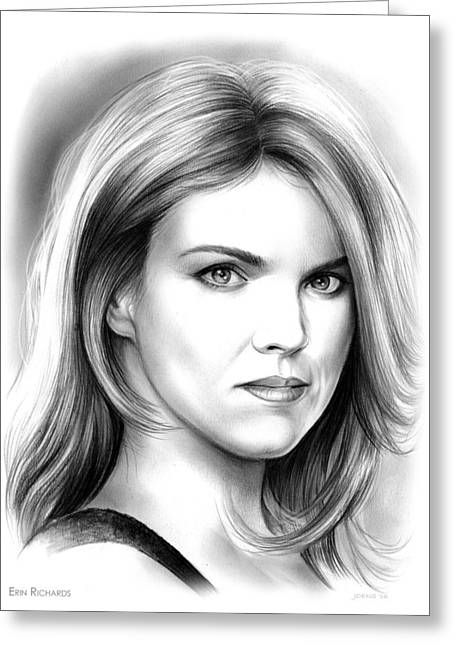 Erin Richards Greeting Card by Greg Joens