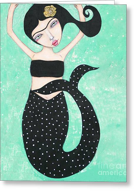 Greeting Card featuring the mixed media Eris by Natalie Briney